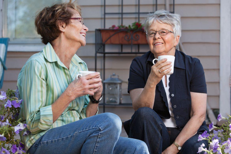 chá verde para os idosos